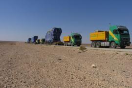 Challenging transport of 16 x 295 Tons Wartsila Diesel engines from Akaba to Amman, Jordan